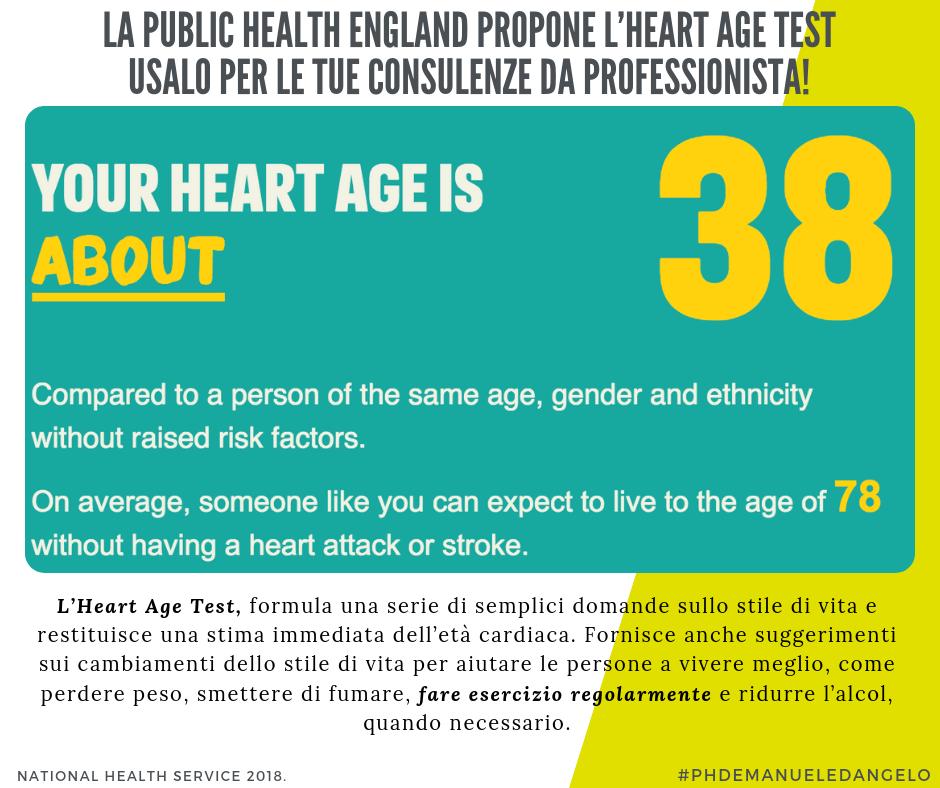 Heart Age Test: un utile strumento per le tue consulenze..